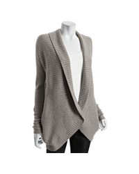 Robert Rodriguez | Natural Oatmeal Ribbed Wool-cashmere Draped Cardigan | Lyst
