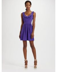 Tibi | Purple Lillian Scoopneck Silk Dress | Lyst