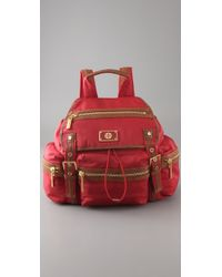 Tory Burch - Red Washed Leather Bijou Hobo - Lyst