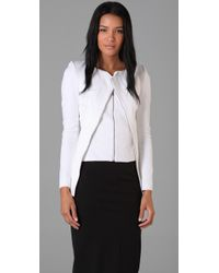 Willow | White Diagonal Zip Bandage Jacket | Lyst