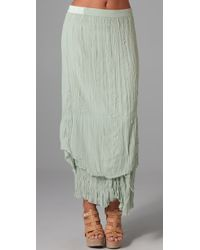 Alice + Olivia | Blue July Layered Maxi Skirt | Lyst