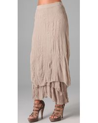 Alice + Olivia | Brown July Layered Maxi Skirt | Lyst