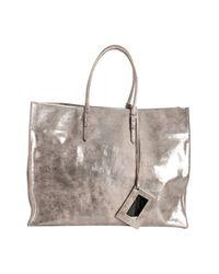 Balenciaga | Pink Praline Metallic Calfskin Papier Tote | Lyst