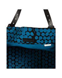 Bottega Veneta - Blue Empire Bolle Print Canvas and Leather Tote - Lyst