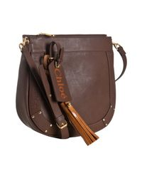 Chloé | Brown Chocolate Faux Leather Eden Small Crossbody Bag | Lyst