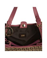 Fendi - Brown Mahogany Zucchino Canvas Forever Shopping Tote - Lyst