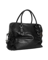 Furla | Black Leather Corniola Ruched Top Handle Bag | Lyst