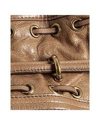Kooba - Brown Taupe Leather Bryce Whipstitch Detail Bucket Bag - Lyst
