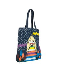 Marc By Marc Jacobs | Blue Denim Miss Marc Printed Tote | Lyst