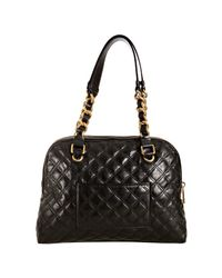 Marc Jacobs - Black Quilted Leather Karlie Satchel - Lyst