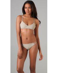 Mikoh Swimwear | Natural Maldives Bikini Top | Lyst