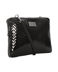 Rebecca Minkoff - Black Patent Leather Virginia Laptop Messenger Bag - Lyst