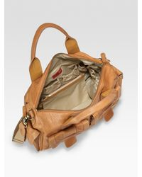 Storksak | Brown Leather Baby Bag | Lyst