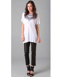 Tom Binns   Multi Colored White Tshirt   Lyst