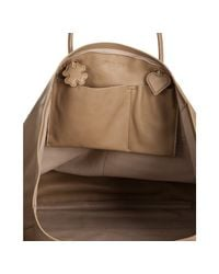 Saint Laurent - Brown Beige Leather Lucky Chyc Tote - Lyst