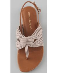 Loeffler Randall - Natural Gioia Strappy Flat Sandals - Lyst
