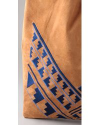 Twelfth Street Cynthia Vincent - Brown Embroidered Grocery Bag - Lyst