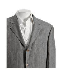 Brunello Cucinelli   Gray Grey Pinstripe Linen 3-button Blazer for Men   Lyst