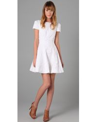Tibi | White Floral Embroidered Aline Dress | Lyst