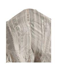 June - Gray Grey Crinkled Lambskin Leather Asymmetrical Jacket - Lyst