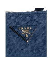Prada - Blue Cobalt Saffiano Leather Tote Bag - Lyst