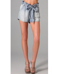 Sass & Bide - Blue Great Moments Chambray Shorts - Lyst