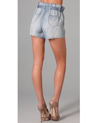 Sass & Bide | Blue Great Moments Chambray Shorts | Lyst