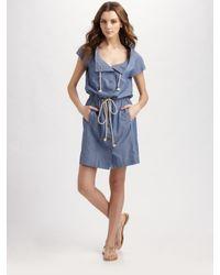 Tory Burch | Blue Pepper Summer Spring Chambray Dress | Lyst