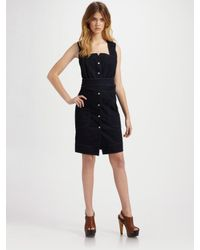 Edun   Black Denim Criss-cross Back Dress   Lyst