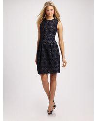MILLY   Blue Carolina Dress   Lyst