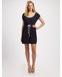MILLY - Blue Knotted Rope Dress - Lyst
