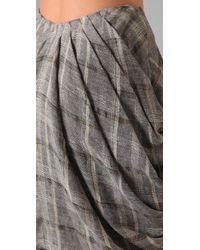 Opening Ceremony - Gray Draped Skirt - Lyst
