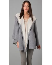 Rogan | Gray Hooded Wrap Poncho | Lyst