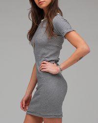 Edith A. Miller - Natural Crew Neck S/s Mini Dress - Lyst
