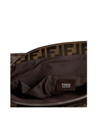 Fendi - Brown Tobacco Zucca Canvas Messenger Bag for Men - Lyst