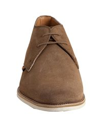 Gucci | Natural Sand Suede Lace-up Ankle Boots for Men | Lyst