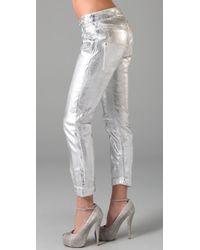 Theyskens' Theory - Metallic Posy Foil Jeans - Lyst