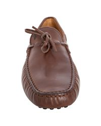 Tod's   Brown Leather New Gommini Driving Loafers for Men   Lyst