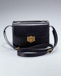 Alexander McQueen   Black Kidskin Crossbody Bag, Medium   Lyst