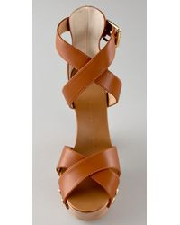 Giuseppe Zanotti - Brown High Platform Clog Sandals - Lyst