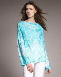 Shamask | White Jersey Print Tunic | Lyst