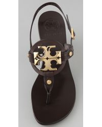 Tory Burch | Brown Holly 2 Logo Thong Sandals | Lyst