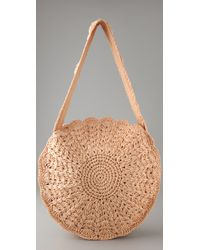 Zimmermann - Natural Circular Raffia Bag - Lyst