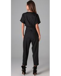 Graham & Spencer - Black Short Sleeve Jumpsuit - Lyst