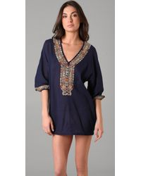 Joie - Blue A La Plage Embroidered Bahamas Tunic - Lyst