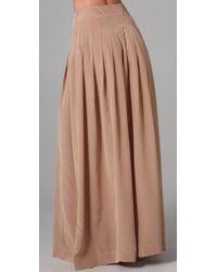 Lover - Natural Silk Maxi Skirt - Lyst