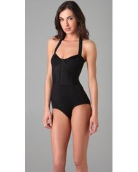 Opening Ceremony - Black Halter One Piece Swimsuit / Bodysuit - Lyst