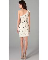 Thread Social - Natural One Shoulder Party Dress - Lyst