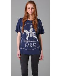 Wildfox | Blue Paris Pony Tee | Lyst