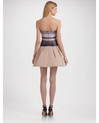 BCBGMAXAZRIA   Natural Hana Strapless Dress   Lyst